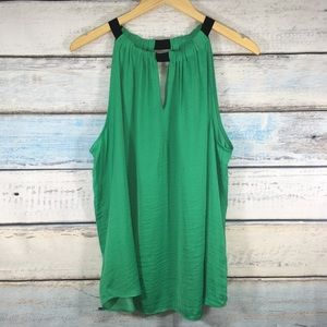 Jennifer Lopez green sleeveless blouse size XL